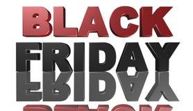 Black Friday, 3D ejemplo, el mejor dinero Imagen de archivo libre de regalías