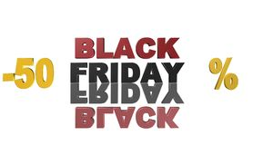 Black Friday, 3D illustration, le meilleur argent Photographie stock