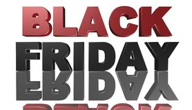Black Friday, 3D illustration, le meilleur argent Image libre de droits