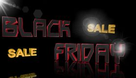 Black Friday, 3D illustration. Black,friday,sale,wide,3D illustration,marketing,day,buy,background,banner,isolated,symbol,design,sign,red,shopping,promotion Stock Image