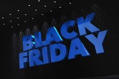 Black Friday 3D pojęcie Ilustracja Wektor
