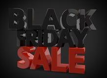 Black friday 3d render for black friday sale Stock Photos