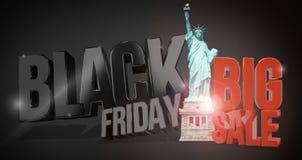 Black friday 3d render for black friday sale Royalty Free Stock Image