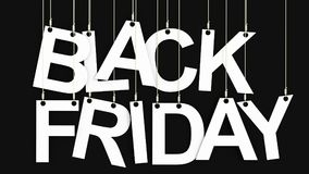Black Friday 3d rendering royalty free stock image