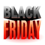 Black Friday 3D text Royaltyfri Fotografi