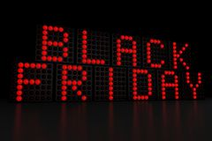 Black Friday dark background Stock Images