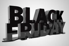 Black Friday dat in zwarte wordt geschreven Stock Foto