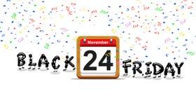 Black Friday day. Illustration elegant wooden calendar with black Friday day 2017 Stock Photo