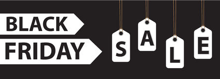 Black Friday. Day sales. Discounts, Special Offers. Vector illustration Royalty Free Stock Images