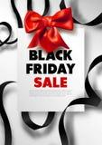 Black Friday-de affiche van de promoaanbieding van de verkoopkorting of reclamevlieger en coupon vector illustratie
