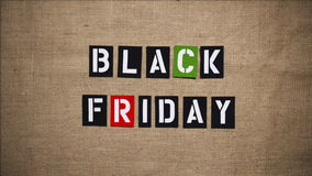Black Friday-de Motieanimatie 1 van het Verkoopeinde stock illustratie