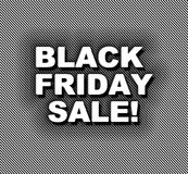 Black Friday de néon em tiras Fotografia de Stock Royalty Free