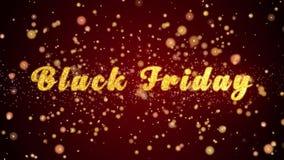 Black Friday-de tekst glanzende deeltjes van de Groetkaart voor viering, festival royalty-vrije illustratie