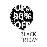 Black Friday-de toespraakbel van de verkoopbanner Stock Afbeelding