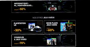 Black Friday Deals On Fnac Website. Paris, France - November 20, 2018: Black Friday Deals And Sales For Cultural And Electronic Products, Close Up View Of A stock video