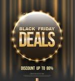 Black Friday deals poster design circle banner Stock Photos