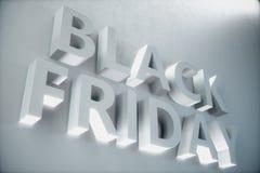 Black Friday - den mest förväntade Sale av året 3D vitt baner, text på den vita väggen Storslagna rabatter Endast en gång a royaltyfri illustrationer