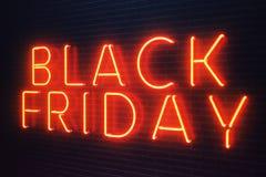 Black Friday - den mest förväntade Sale av året Rött baner 3D för neon Storslagna rabatter Endast en gång om året, maximum vektor illustrationer