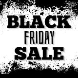 Black friday design on grunge ink splattered background Royalty Free Stock Image