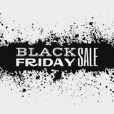 Black friday design on ink splatter Stock Photo