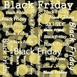 Black Friday-Design mit gelber und schwarzer Polka Dot Tile Pattern Lizenzfreie Stockfotos
