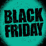 Black Friday design template in grunge style. Emblem poster nigh Stock Photography