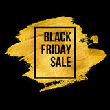 Black Friday  Designs on gold blob. Vector Stock Photography