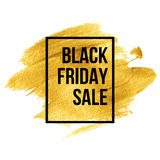 Black Friday  Designs on gold blob. Vector Stock Image