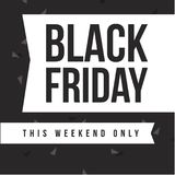 Black Friday-Designschablonenhintergrund Lizenzfreies Stockfoto