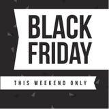 Black Friday-Designschablonenhintergrund Lizenzfreies Stockfoto
