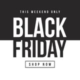 Black Friday-Designschablonenhintergrund Lizenzfreies Stockbild