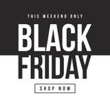 Black Friday-Designschablonenhintergrund Lizenzfreies Stockbild