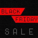 black Friday digital computer style stock illustration