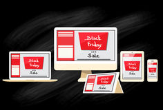 Black Friday Digital Device Electronic Sale Royalty Free Stock Images