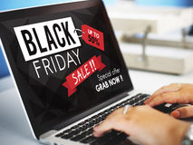 Black Friday Discount Half Price Promotion Concept Royalty Free Stock Image