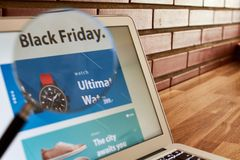Black friday discount screen royalty free stock images