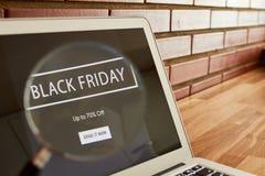 Black friday discount screen royalty free stock photo