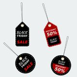 Black Friday Discount Tags Stock Photos