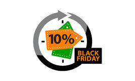 Black Friday Discount 10 % Stock Image