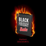 Black friday. Discounts, increasing consumer growth. Fire packet Stock Photos