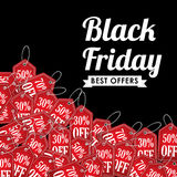 Black friday discounts,offers and promotions. Stock Image