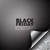 Black Friday Discounts page corner Stock Images