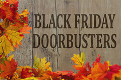 Black Friday Doorbusters de achat Images stock