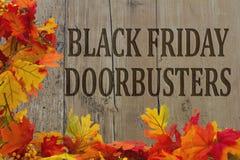 Black Friday Doorbusters di compera Immagini Stock