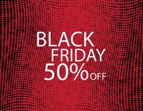 Black Friday Black dots on red background. Royalty Free Stock Photography