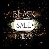 Black Friday-Einkaufstag, Feiertags-Verkaufs-Konzept, Preis-Rabatt-Fahne über Schmutz-Hintergrund Lizenzfreies Stockfoto