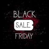 Black Friday-Einkaufstag, Feiertags-Verkaufs-Konzept, Preis-Rabatt-Fahne Stockbild