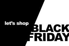 Black Friday-Einkaufsverkaufskonzept Illustration des Verkaufsdatums Lizenzfreie Stockbilder