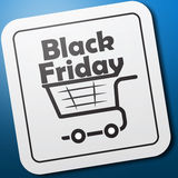 Black Friday-Embleem van Pictogram Stock Foto's