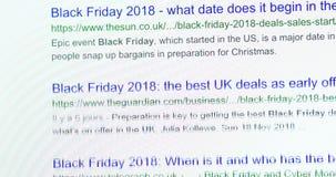 Black Friday en la búsqueda BRITÁNICA de Google metrajes